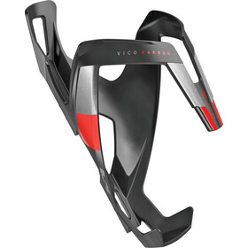 Elite Vico Bottle Holder Carbon, black matte/red